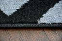 DYWAN BCF BASE 140x190 ZYGZAK 3898 szary #DEV804 Kolor odcienie szarości czarny