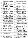 Венок  свадьба с именами 30 Шрифтов