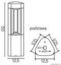 Lampa OGRODOWA stojąca słupek FAN 50cm nowoczesny Kod produktu GL 11204
