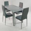 комплект стол и 4 стулья обиты Ницца Серые