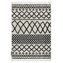 Dywan BOHO shaggy 80x150 frędzle kremowy #GR2831 Kolor kremowy biały czarny