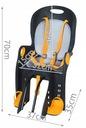 Fotel rowerowy FOTELIK na rower bagażnik pasy 5pkt Obciążenie maksymalne 22 kg