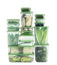 IKEA PRUTA pojemniki na żywność 17szt zielony