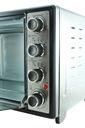 Piekarnik elektryczny ROŻNO TERMOOBIEG GRILL 45L Funkcje grill rożen obrotowy termoobieg rozmrażanie opiekanie górną grzałką opiekanie dolną grzałką termostat automatyczne wyłączenie regulacja wysokości tacek/rusztu