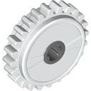 Lego Technic zębatka 24 ze sprzęgłem 60c01 biały