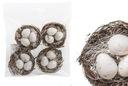 Gniazdko z Jajkami Stroik Dekoracja Świąteczna 6cm Marka BRAK