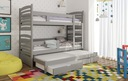 Łóżko piętrowe OLEK 3 osobowe Bohater inny