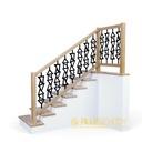 Balustrada barierka na schody ażurowa Dąb 2,5 x 1m