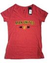 Czerwona koszulka damska Manchester United L Marka Adidas