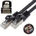 NEKU Kabel Patchcord S/FTP kat.6a PIMF czarny 0,5m