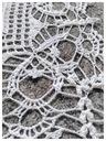 Serwetka,podkładka(ok.43/43cm) -kordonek Materiał dominujący bawełna