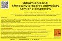 Odkamieniacz Odwapniacz-1L do Ekspresów PRODUCENT Ciśnienie 50 bar
