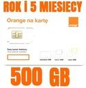 STARTER INTERNET ORANGE FREE 500GB ROK +5 MIESIĘCY