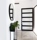 зеркало Круглые металлические настенные Fi 80см черные
