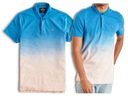 HOLLISTER Abercrombie Koszulka MĘSKA POLO Ombre L