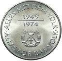 ГДР - 10 Марок 1974 - 25 ЛЕТ DDR - MENNICZA UNC доставка товаров из Польши и Allegro на русском