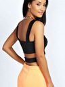 BOOHOO BLUZKA CROP TOP BRALETKA CUT OUT S 36 E935 Fason tuba