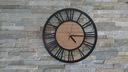 zegar ścienny Vintage Loft cichy duży 3D drewno Cechy dodatkowe efekt 3D mechanizm kwarcowy