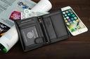 Skórzany portfel męski BETLEWSKI ochrona RFID duży Kolor czarny
