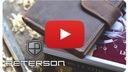PETERSON PORTFEL MĘSKI SKÓRZANY STOP RFID ZAPINANY Zapięcie zatrzask