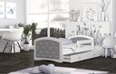 Łóżko tapicerowane materac szuflada 160x80 MEGI Bohater inny