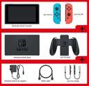 NOWE Nintendo SWITCH 32GB V2 + 2 gry + szkło +etui Głębokość produktu 10.2 cm
