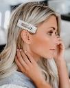 ZESTAW spinka do włosów SREBRNA perełki perły ŚLUB Kolor dominujący biały