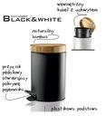 Корзина 3l металлический Бамбук современный Черный