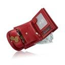 Skórzany portfel damski Garbarnia Praska mały RFID Kolor czerwony