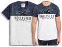 Koszulka Męska HOLLISTER Bawełna Logo T-SHIRT XL