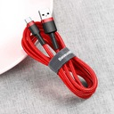 Baseus kabel USB-C Typ C Quick Charge 3.0 2A 200cm Kolor czerwony