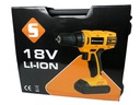 Wiertarko wkrętarka 18V akumulatorowa LI-ION 2 AKU Zasilanie akumulatorowe