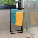 Łazienkowy wieszak STOJAK na ręczniki CZARNY LOFT