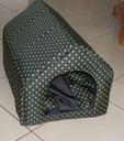 SUPER BUDA 50/60 cm + PODUSZKA - ZIELONE KROPKI