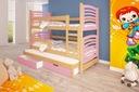 Łóżko piętrowe OLEK 3 osobowe Liczba miejsc do spania 3
