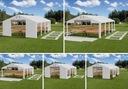 6x12m 2-3,09m Namiot ogrodowy handlowy całoroczny Kolor odcienie zieleni