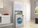 Шкаф над стиральной машиной ШКАФ столбик Белый блеск акрил