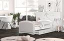 Łóżko tapicerowane materac szuflada 160x80 MEGI Szerokość 85 cm