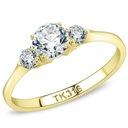 Złoty pierścionek zaręczynowy SAY YES grawer r. 14 Marka Inna marka
