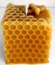 świeca z naturalny wosk pszczeli eko podziękowanie Kolor odcienie żółtego i złota