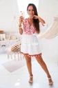 Włoska BOHO biała różowa plażowa frędzle haft S Płeć Produkt damski