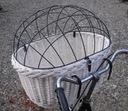 БОЛЬШОЙ Корзина плетеный на велосипед СОБАКИ для 15 кг +подушка