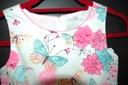 Elegancka letnia sukienka- roz. 134 Fason rozkloszowana