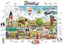 Puzzle - Kraków, Rynek Główny, rys. Anrzej Mleczko Kolekcja Andrzej Mleczko