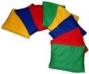 Woreczek gimnastyczny szkolny korekcyjny 10x13cm Kolor Odcienie czerwieni Odcienie niebieskiego Odcienie zieleni Odcienie żółtego i złota