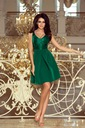 elegancka SUKIENKA MIDI KORONKOWA WESELE ZIELONA Kolor inny kolor zielony
