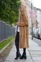 Długie futro futerko płaszcz kurtka miś Rodzaj sztuczne