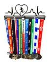 Вешалка на медали ритм сердца Бег 40 человек доставка товаров из Польши и Allegro на русском