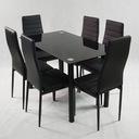 стол  ??????????  6 черных стульев Ницца