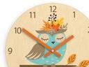Zegar ścienny do pokoju dziecka SOWA 30cm CICHY Bohater inny